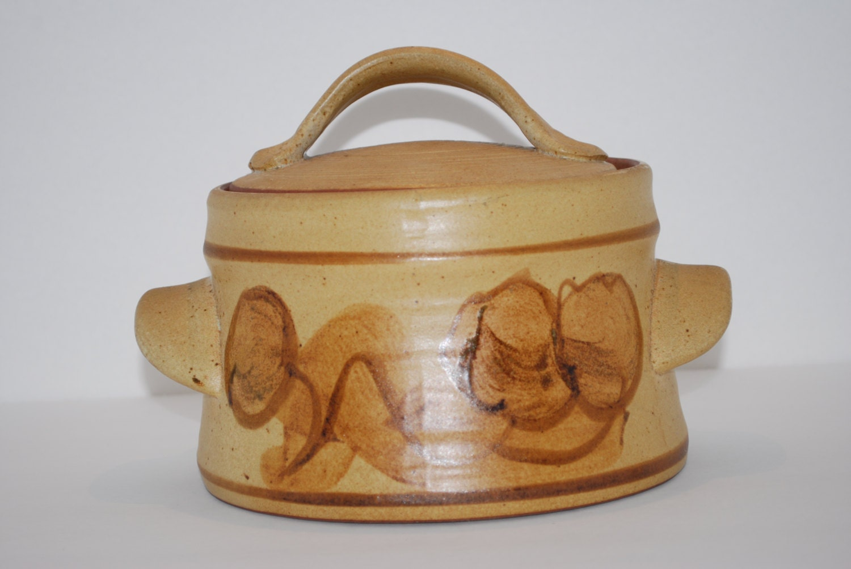 Ceramic Stoneware Baking : Vintage stoneware crock pottery bakeware large by
