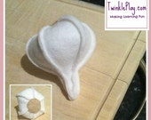Felt Pretend Play Food Garlic Bulb