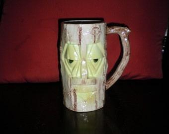 Vintage 1960's Tiki Ceramic Mug cup with handle Unbranded