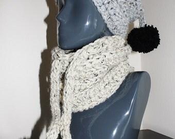2 in 1 Crochet Beanie / Neckwarmer