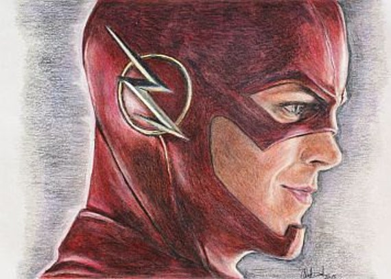 Le flash grant gustin impression du dessin for Disegni di flash