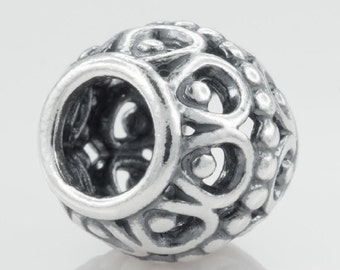 NEW  Authentic Genuine Pandora Sterling Silver Charm Bead Clouds Silver Lining 790458  NEW