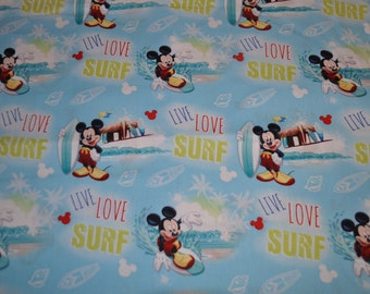Surfin' Mickey Baby Blanket - cotton