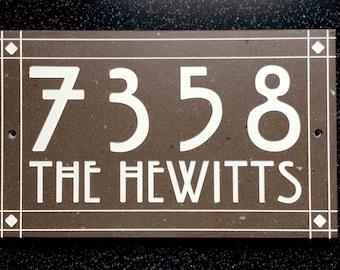 Craftsman Style Address Sign