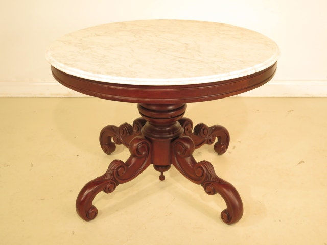 CLASSICS Marble Top Round Dining Center Table Haute Juice