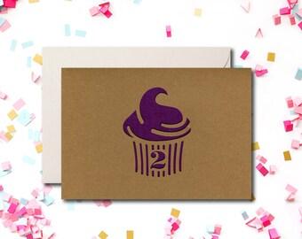 Birthday Greeting Card, Kraft Greeting Card, Modern Card, Yellowdotpaper