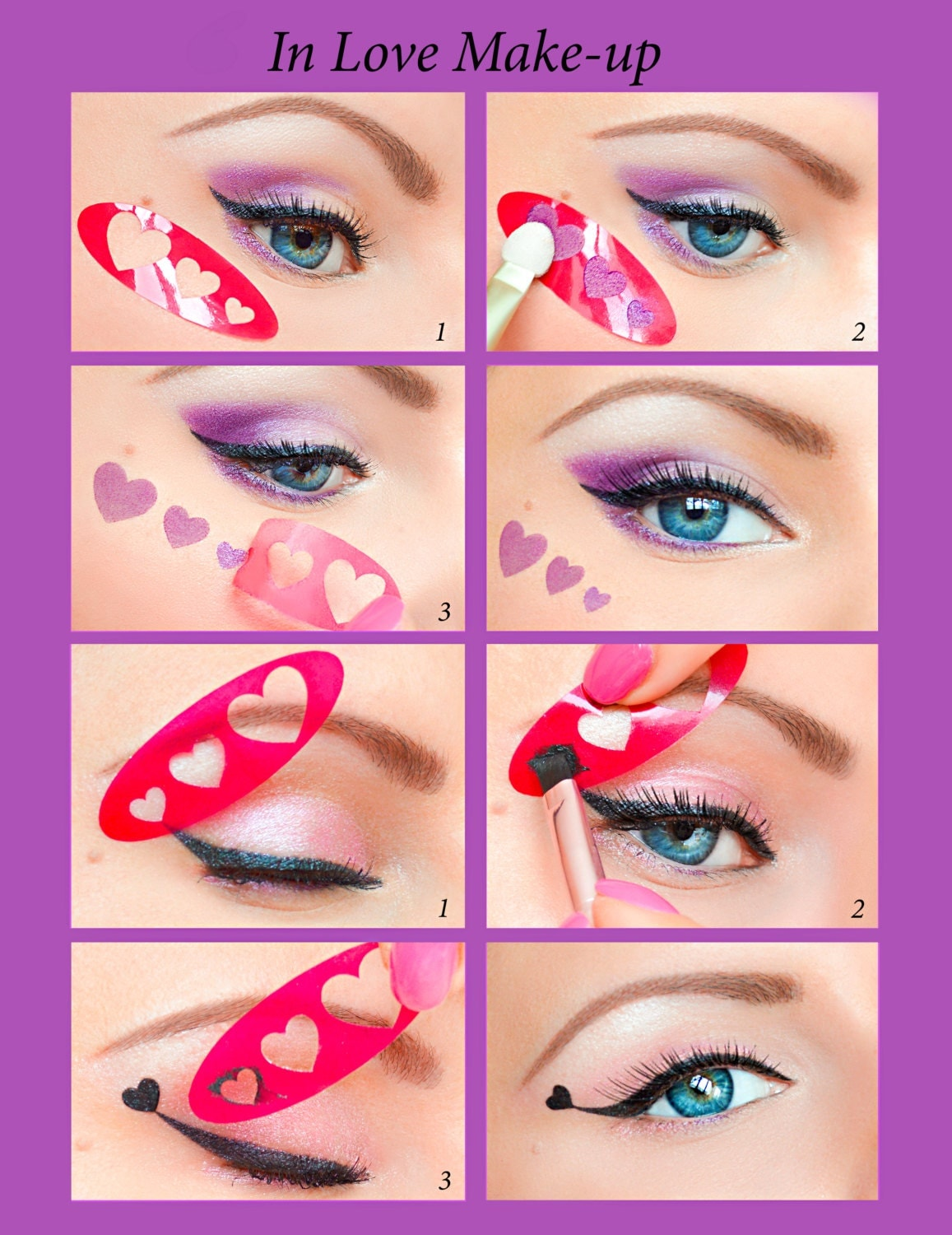 Quick Eyeliner Stickies Stencils Cosmetic Eye Makeup Tool