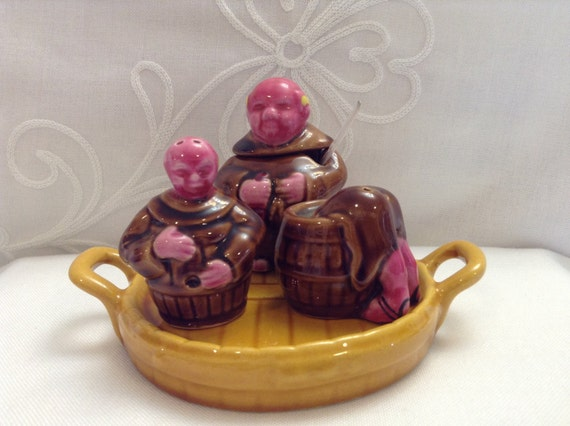 Funky 6pc Monk Salt And Pepper Shakers By