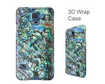 Shell printed 3D wrap case, Samsung Galaxy S7, S6, S5, S4, iPhone 6, 6S, iPhone 6 Plus, iPhone SE, 5, 5S, 5C, 4, 4S Abalone phone cover W187