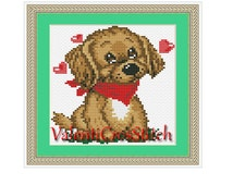 Love Dog Cross Stitch Pattern, Dogs,bogo,sale, easy cross stitch pattern, counted cross stitch, cross stitch chart, PDF cross stitch