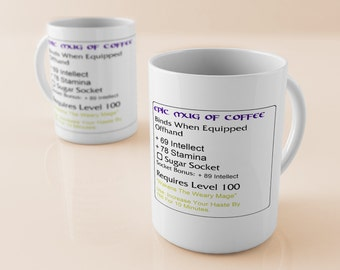 Custom Epic Warcraft Mage Coffee Cup
