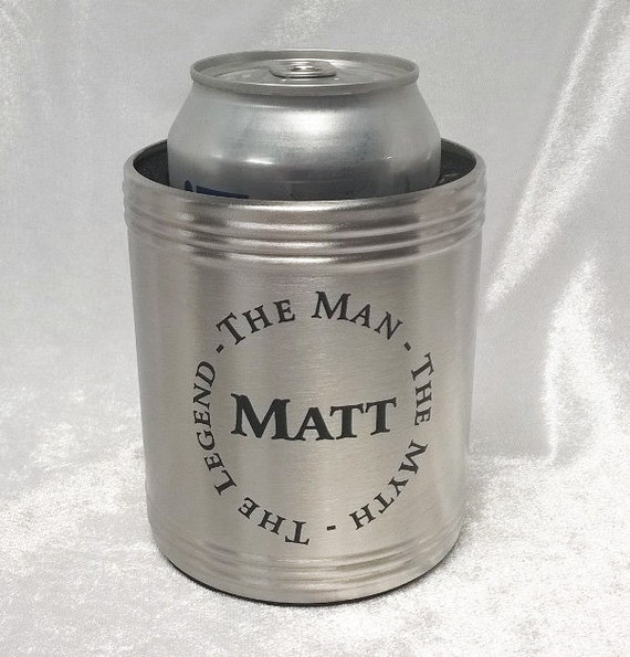 Stainless Steel Can Cooler ~ Stainless steel metal can cooler wedding present dad
