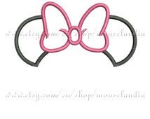Cute Girly mouse Ears Applique Monogram Design  2 sizes 4X4, 5X7  Instant Download