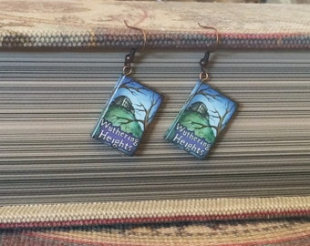 Book Charm Earrings, Wuthering Heights Earrings, Classic Literature Earrings