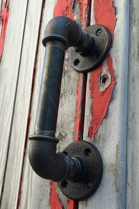 Très Poignée de porte industrielle porte serviette esprit usine RP42