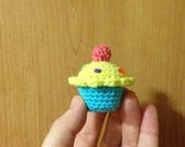 Crochet cupcake decoration (free UK p&p)