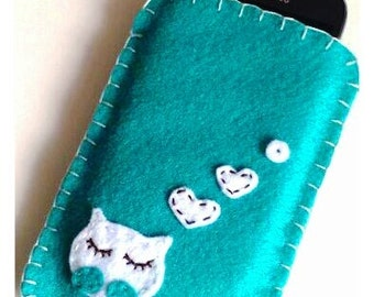 Phone case felt cover, Felt cover, Felt mobile cover, iPhone samsung cover, felt iPhone case, gadget case, Felt camera case, Phone sleeve