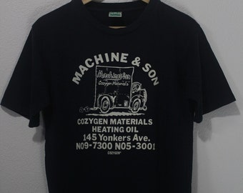 Vintage 90s Machine and son by cozygen lorry graphic tee shirt