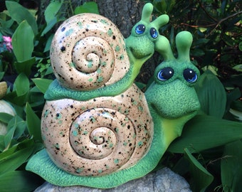 Icky & Sticky: Garden Art Ceramic Snails