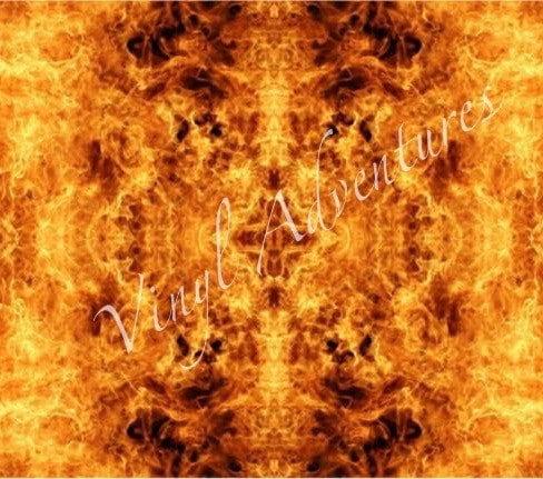 Fire Heat Transfer Vinyl Flame Pattern Htv Fire