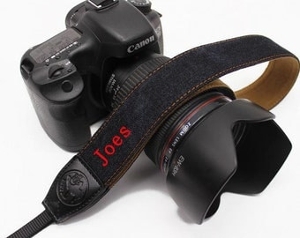 Custom name leather DSLR camera strap Folk style bohemian cowboy camera strap for Nikon/Canon.Personalized camera strap for Photographers-WL