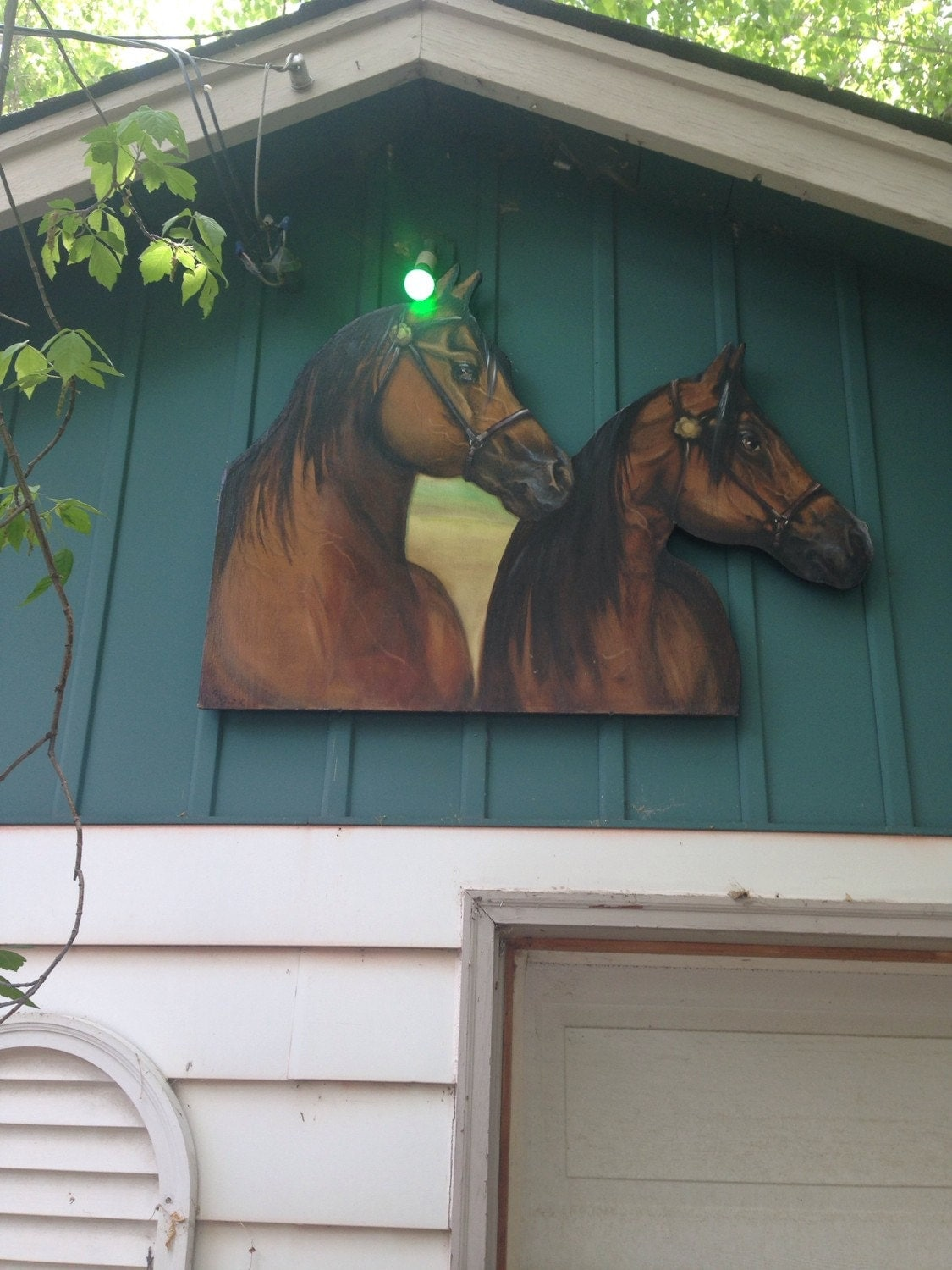 Wood horse cutout mural wall decor original by paintingsbynoemi - Decor mural original ...