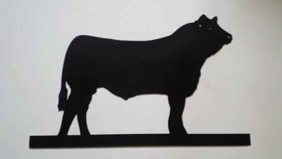 CNC Plasma Cow Metal Sign Powder Coated or Raw Steel