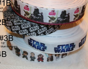 Star Wars inspired  grosgrain ribbon-your choice R83B