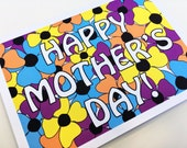 Mother's Day Flowers // Mother's Day Card // Card for Moms //  Single Card + Envelope // GC0173