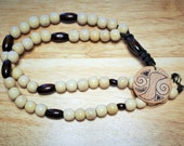 Handcrafted Wood Necklace; Woodburned Necklace; Wooden Necklace; Nature-Inspired Necklace; Zen-Nature Inspired OOAK Design