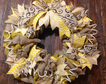 Mustard Fall Wreath
