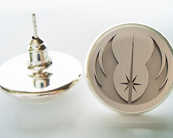 Jedi Earrings (Silver/Bronze) for Star Wars Fans