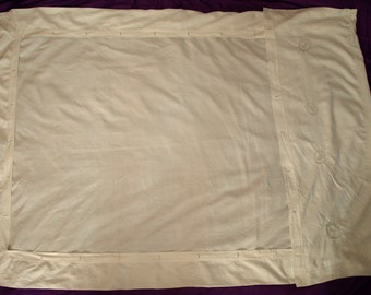 White Hand Embroidered Hungarian Single Duvet Cover from the 20s