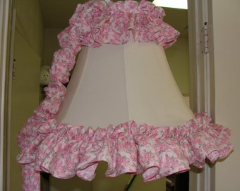 Shabby Chic Awesome hanging lamp,Ruffles and Roses