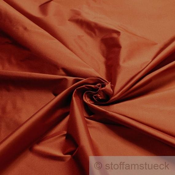 fabric pure silk tafetta terracotta fine plain from stoffamstueck on etsy studio. Black Bedroom Furniture Sets. Home Design Ideas