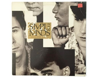"Simple Minds, ""Once Upon a Time"", vinyl record album, new wave LP, jim kerr, alive and kicking, scotland"