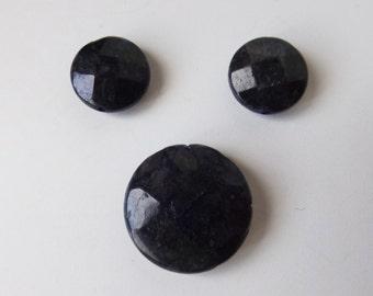 Natural Chinese Labradorite faceted beads set ( #J1284)