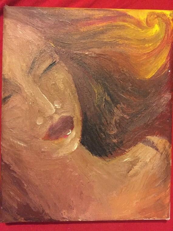 custom acrylic painting titled serenity