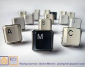 Geek initial key board rings German silver - Chic and ecofriendly - Join the Key Revenge - Rings from upcycled keyboards -