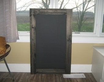 Rustic chalkboard, extra large.  Custom made, you pick color.  40 x 24 inches.