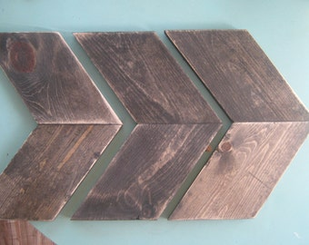 3 rustic wood arrows Ebony stained and distressed  Modern custom unique  Wall decor