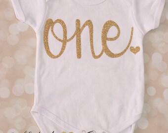 ONE ONESIE; Birthday onesie