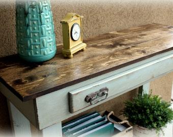 4' Farmhouse Console Table / Media table / Sofa Table / Rustic Console table