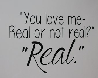 You love me. Real or not Real? Real. Hunger Games Vinyl Wall Decal B1G1
