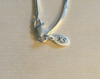 Sterling Silver Oval Jewelry Tag