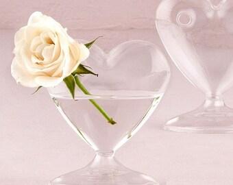 Personalized Wedding Favor - Mini Glass Heart Vase - Wedding Favor - Personalized Party Favors - Wedding Vase Favor - Glass Vase Favor