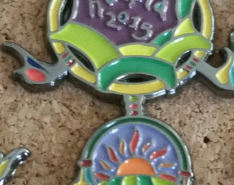 Hoopla in the hills 2015 hat pin