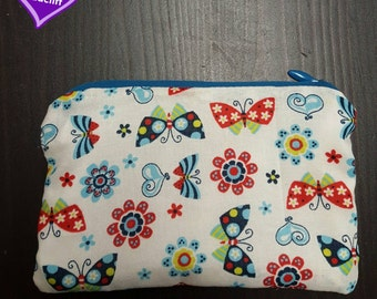 Colorful Butterflies Coin Pouch