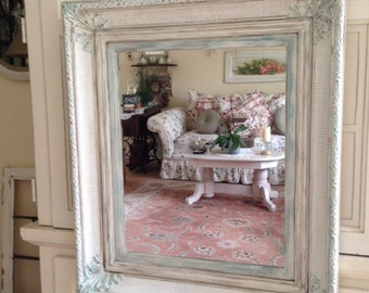 soldbeautiful vintage cottage french country ornate carved wood framed wall mirrorgesso antique dresser framed leaning mirror shabby chic