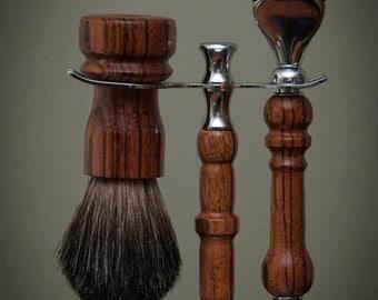 Exotic Wood Shaving Kit
